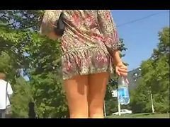 Beauty Upskirt In The Park By Voyeur Troc