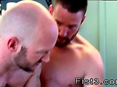 bearded dude gets his asshole fisted so fine by his partners