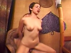 Short Haired Brunette Teen Gets Dripping Facial