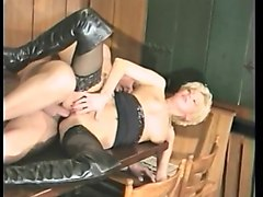 busty mature can't get enough - german vintage