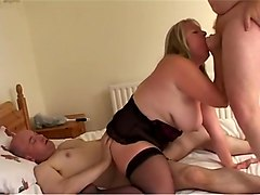 Mature Whore Banged By Two Horny Guys