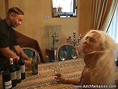 Tattooed mature Blonde enjoyed different sex positions