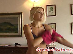 Real czech amateur Sandra at the first casting