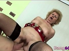 busty blonde gilf riding reverse cowgirl big cock