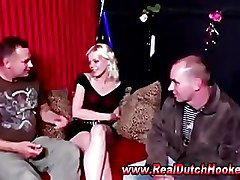 Real amateur guy plays with european hookers pussy
