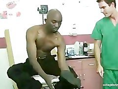 Hot ebony boy Jackson get a doctor exam