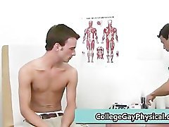 Aaron gets his nice cock examined part5
