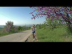 Cute Teen Flashing  In Country BVR