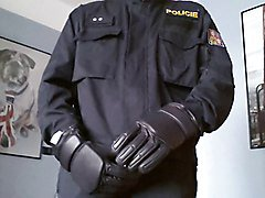 Police uniform and gloves