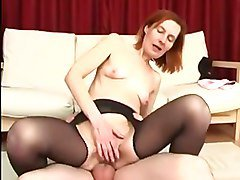Anal Granny in Open pantyhose Fucks