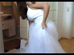 Teen in Wedding Dress
