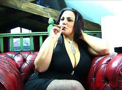 Big Boob Cigar Smoking Fetish With Mellie D