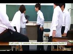 Akiho Yoshizawa innocent Chinese teacher does blowjob