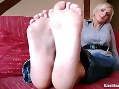 czech sexy feet - lada super soles and ticklish feet