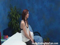 Hot Young Teen Fucks Client On Massage Table