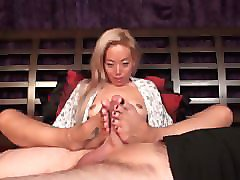 dynasty blond asian nothing but footjobs