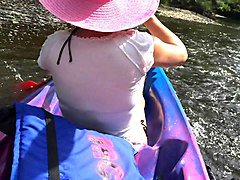 canoeing b&r style. flashing, teasing and playing on a river