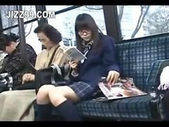 Schoolgirl Seduced And Fucked By Geek On Bus