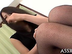 uncouth japanese anal group sex