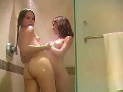 2 Girls Playing In The Shower By Snahbrandy