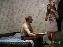 Grandpa Fucks Girl In Pink Skirt