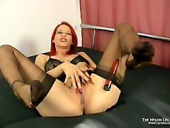 dildo footjob fully fashioned nylons