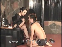 japanese femdom k of kimono slapping the face of slave