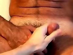 full video: a innocent mature guy gets serviced his big cock by a guy!