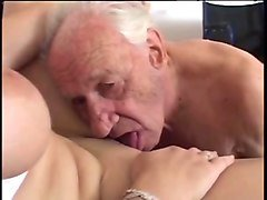 young nurse takes care of grandpa