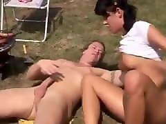 hungry anal moms anal boned at bbq party