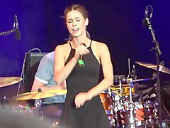 lena meyer-landrut private dance upskirt black mini nipples
