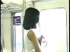 Asian Cutie In Train asian street meat
