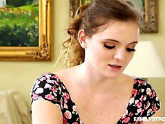 pierced navel teen banged by her stepbro