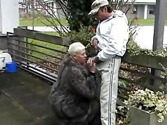 German Fat Woman Sucking And Fucking In Public