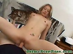 Horny Teen Gets Her Tight Twat All Banged Hard