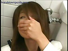 Asian Schoolgirl Masturbating In The Bathroom