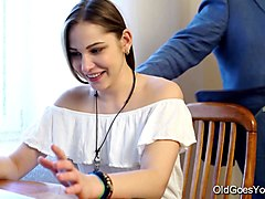 teen babe seduced by a man three times her age