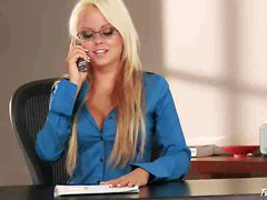 Lindsay Marie Teases Her Pussy In The Office