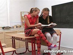 Hot College Girls Dildo Each Other
