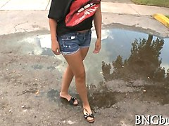 bang bus finds a hot little latina in the hood