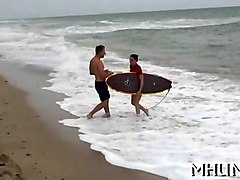 surfer milf gets spanked on the beach by levi cash