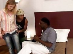 Teen Blond Hairy Bush Beauty Fucked Black Cocks