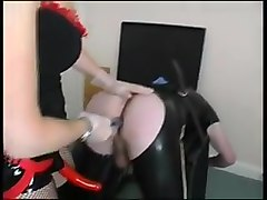 Strapon Mistress Pegging Slave