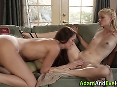 kinky lesbian friends get dirty in homemade sex video
