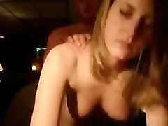 short hair milf with plump boobs sucks strippers dick