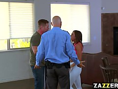femdom blonde izzy provides a strong handjob