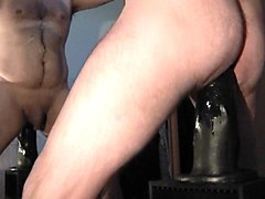 hairy bum boy wanks his hard pecker solo