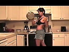 Milf of All Milfs in Kitchen
