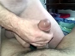 gloryhole ho cum sprayed masturbation