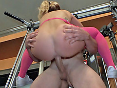 Jenna Ashley in Trainer's After-Hours Sex Tape- PervsOnPatrol